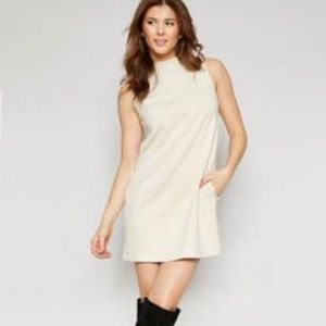 Sadie & Sage Lyla Suede Mock Neck Dress